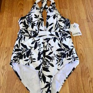 NWT ladies swimsuit ball/white sz 12